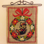 Mario X-mas cross stitch