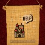 Mario Help Casle cross stitch